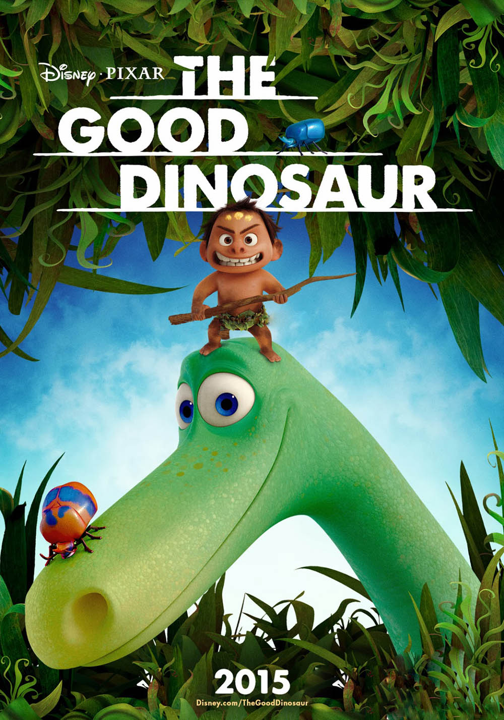 "Primer teaser poster de ""The good Dinosaur"""