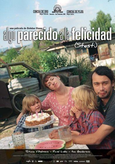 Cartel oficial en español de: Algo parecido a la felicidad