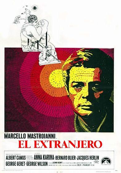Cartel oficial en español de: El extranjero (1967)