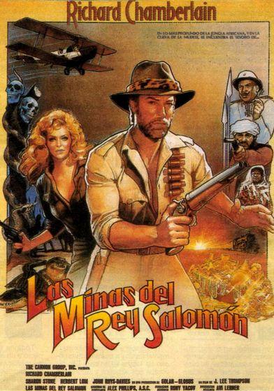 Cartel oficial en español de: Las minas del rey Salomón (1985)