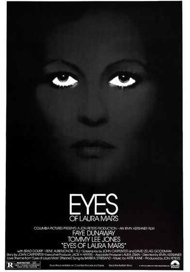 """Cartel """"Los ojos de Laura Mars"""" norteamericano"""