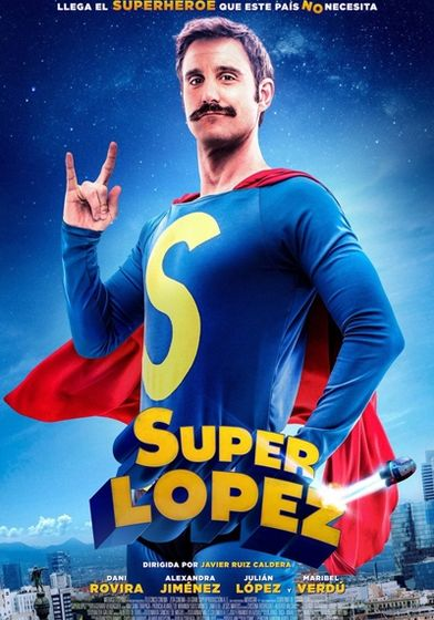 Cartel oficial en español de: Superlópez