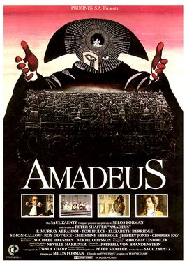 Cartel oficial en español de: Amadeus