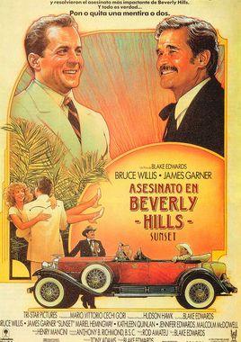 Cartel oficial en español de: Asesinato en Beverly Hills