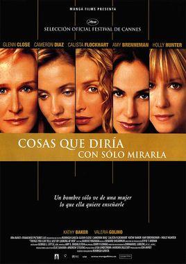 Cartel oficial en español de: Cosas que diría con sólo mirarla