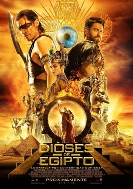 Cartel oficial en español de: Dioses de Egipto