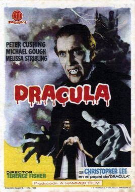 Cartel oficial en español de: Drácula (1958)