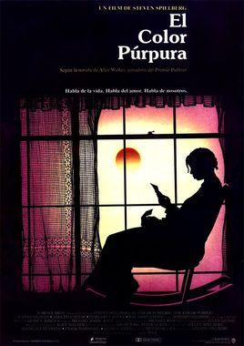 Cartel oficial en español de: El color púrpura