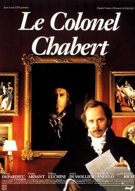"""Cartel """"El coronel Chabert"""" francés"""