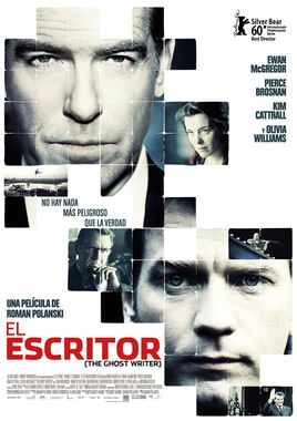 Cartel oficial en español de: El escritor (The ghost writer)