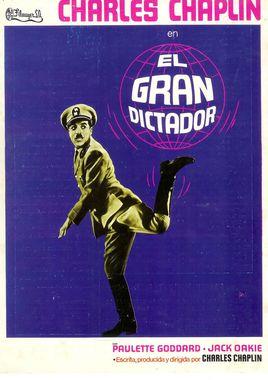 Cartel oficial en español de: El gran dictador