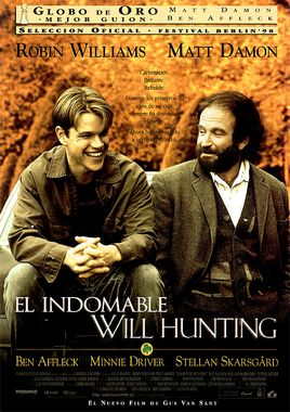 Cartel oficial en español de: El indomable Will Hunting