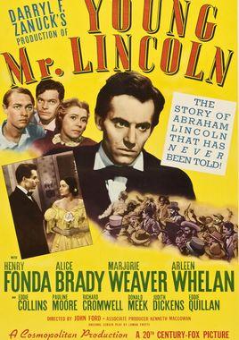 Cartel oficial en español de: El joven Lincoln