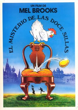 Cartel oficial en español de: El misterio de las doce sillas