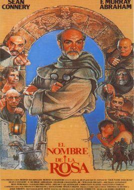 Cartel oficial en español de: El nombre de la rosa