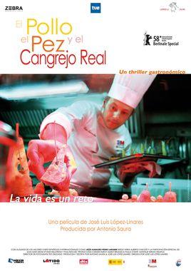 Cartel oficial en español de: El pollo, el pez y el cangrejo real