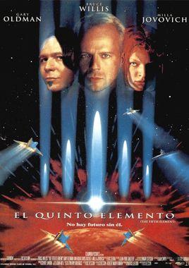 Cartel oficial en español de: El quinto elemento