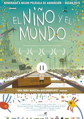Cartel oficial en español de: El niño y el mundo