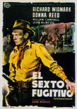 Cartel oficial en español de: El sexto fugitivo