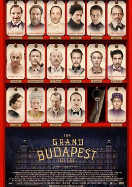 Cartel oficial en español de: El gran hotel Budapest