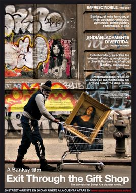 Cartel oficial en español de: Exit through the gift shop