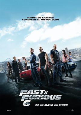 Cartel oficial en español de: Fast & Furious 6