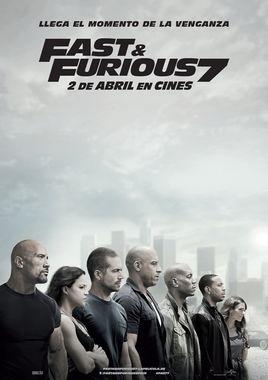 Cartel oficial en español de: Fast & Furious 7