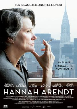 Cartel oficial en español de: Hannah Arendt