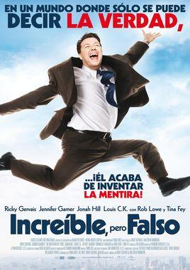 Cartel oficial en español de: Increíble, pero falso