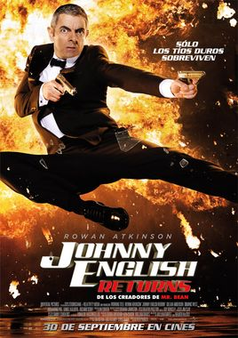 Cartel oficial en español de: Johnny English Returns