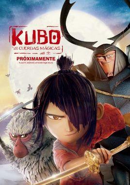 Cartel oficial en español de: Kubo y las dos cuerdas mágicas