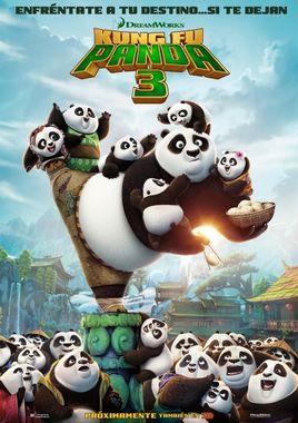 Cartel oficial en español de: Kung Fu Panda 3