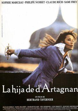 Cartel oficial en español de: La hija de D'Artagnan