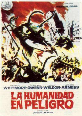 Cartel oficial en español de: La humanidad en peligro
