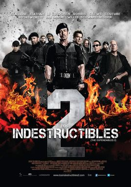 "Cartel ""Los mercenarios 2 (The Expendables 2)"" argentino"