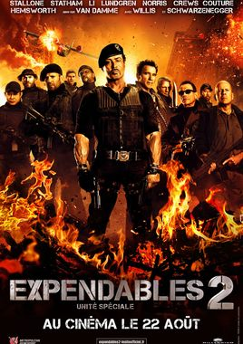 "Cartel ""Los mercenarios 2 (The Expendables 2)"" francés"