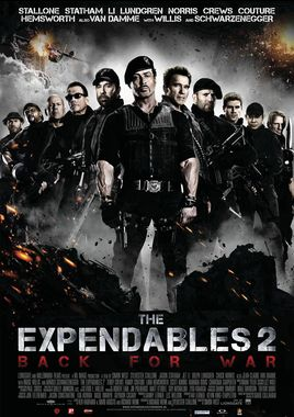 "Cartel ""Los mercenarios 2 (The Expendables 2)"" holandés"