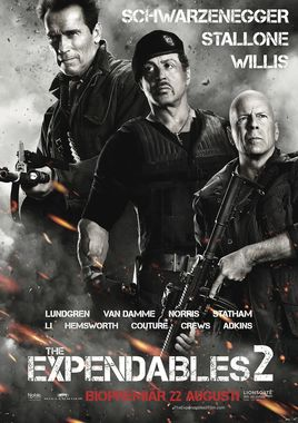 "Cartel ""Los mercenarios 2 (The Expendables 2)"" húngaro"
