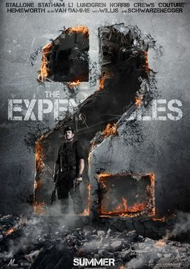 "Cartel teaser""Los mercenarios 2 (The Expendables 2)"" norteamericano"