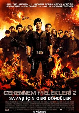 "Cartel ""Los mercenarios 2 (The Expendables 2)"" turco"