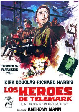 Cartel oficial en español de: Los héroes de Telemark