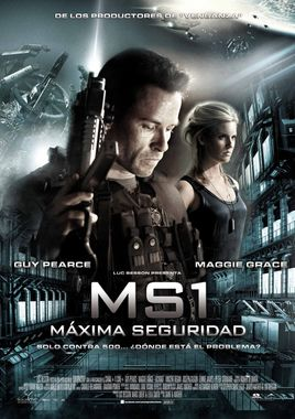 Cartel oficial en español de: MS1: Máxima Seguridad