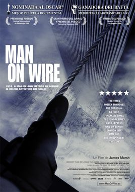 Cartel oficial en español de: Man on Wire