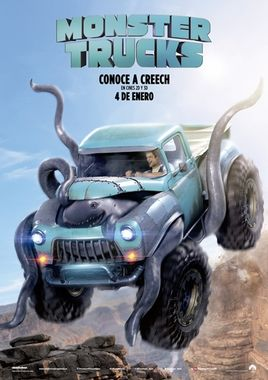 Cartel oficial en español de: Monster Trucks