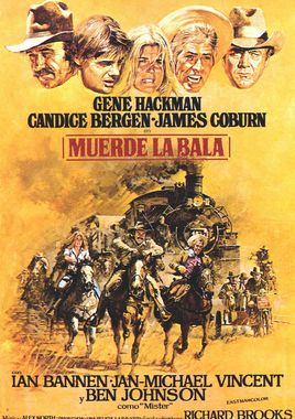 Cartel oficial en español de: Muerde la bala