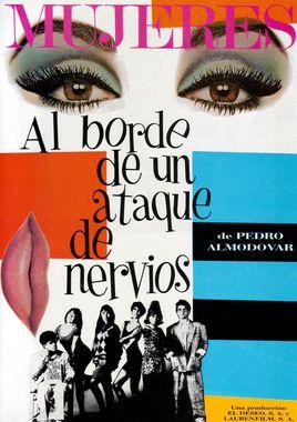 Cartel oficial en español de: Mujeres al borde de un ataque de nervios