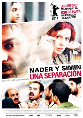 Cartel oficial en español de: Nader y Simin, una separación