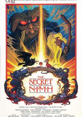 """Cartel """"Nimh, el mundo secreto de la Sra. Brisby"""" norteamericano"""