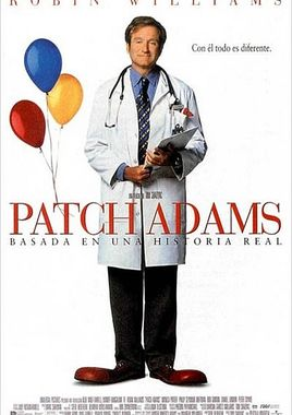 Cartel oficial en español de: Patch Adams