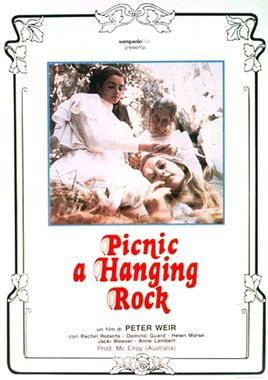 "Cartel ""Picnic en Hanging Rock"" italiano"
